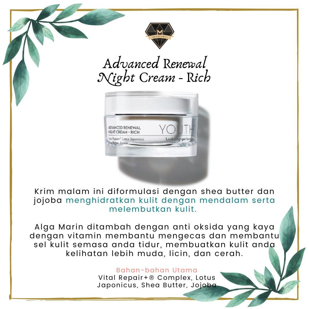 Skincare Untuk Kulit Kering - Youth Advanced Renewal Night Cream