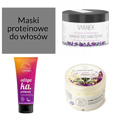 Maski proteinowe do włosów - TOP 10