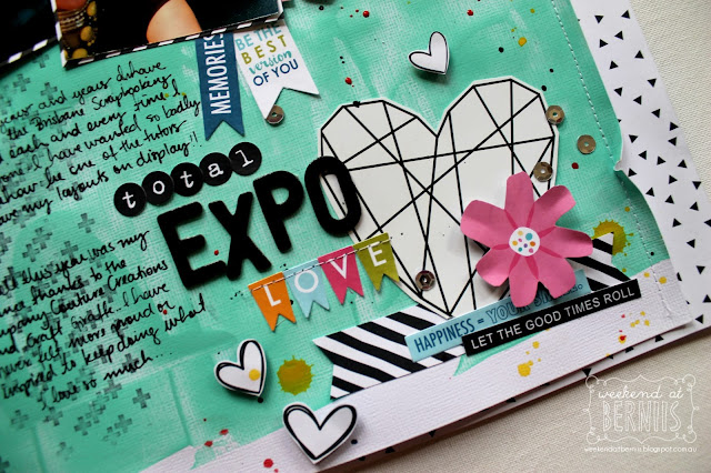 Total Expo Love layout by Bernii Miller using the Clique Kits - Clique Into Color kit.