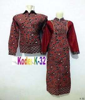 desain baju couple batik lengan panjang