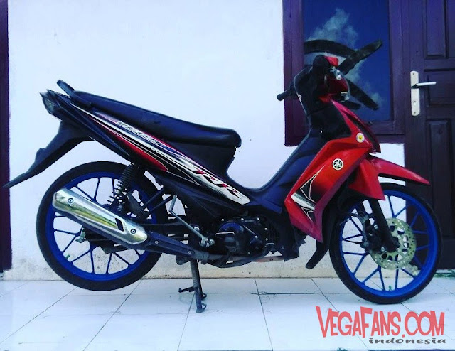 Modifikasi Vega RR Merah Modif Simple Velg Racing Palang