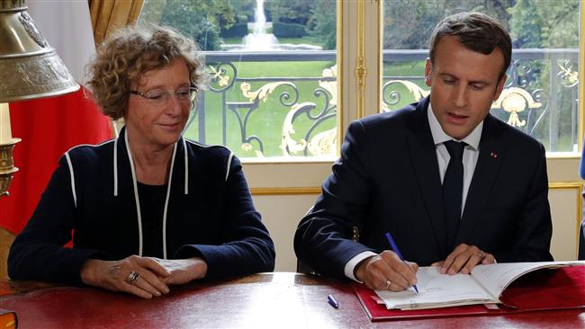 French President Emmanuel Macron signs 5 decrees to overhaul labor code