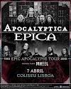 Epica e Apocalyptica em Lisboa só em 2021