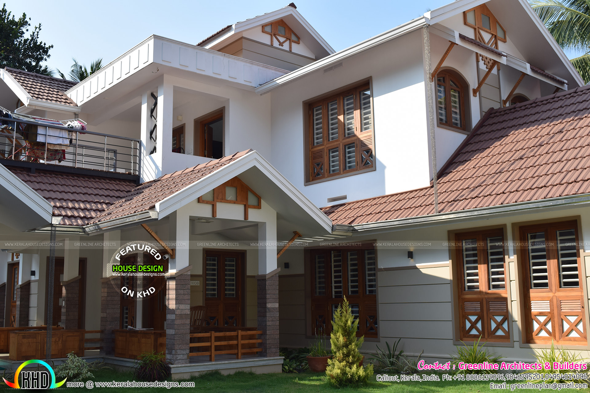 Work finished 5 bedroom house at calicut kerala home for House plans with finished photos