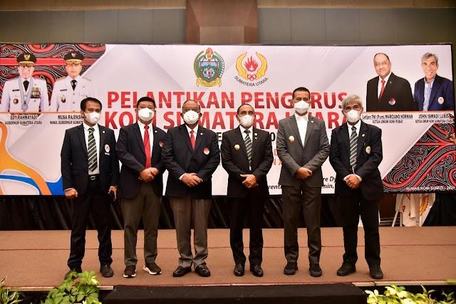John Ismadi Lubis Dilantik Sebagai Ketua KONI Sumut  Periode 2021-2025
