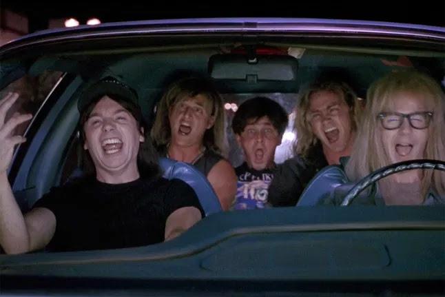 Cantando Bohemian Rhapsody en el coche de Garth