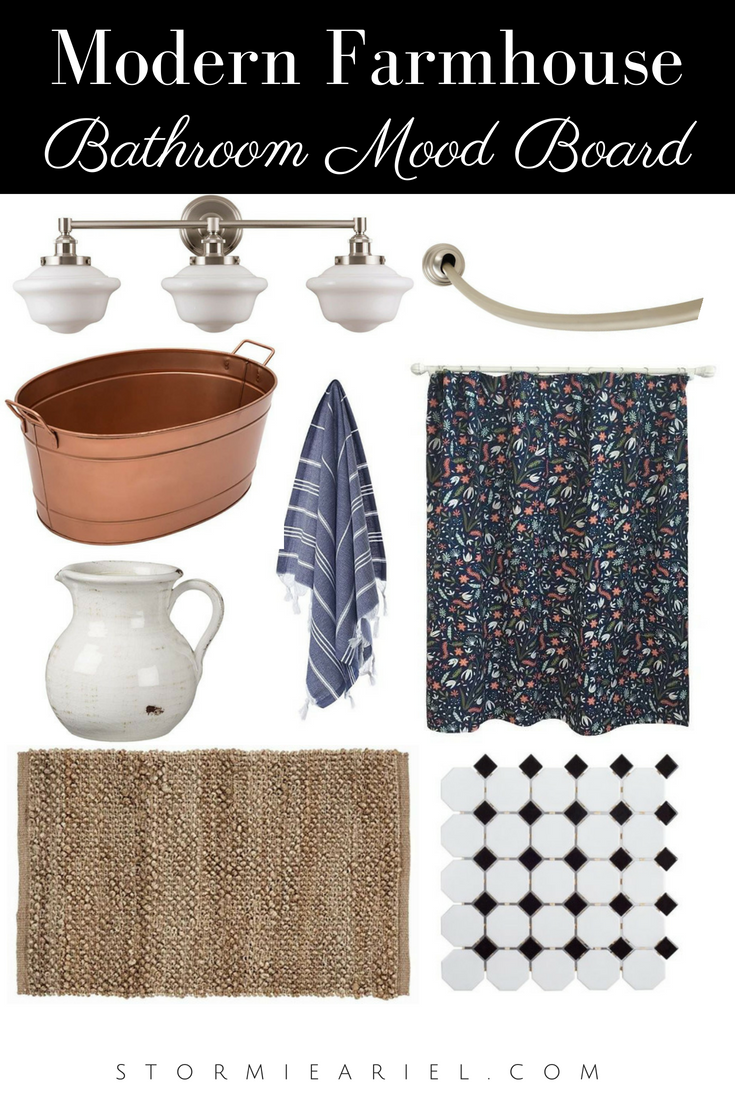 Modern Farmhouse Bathroom Mood Board