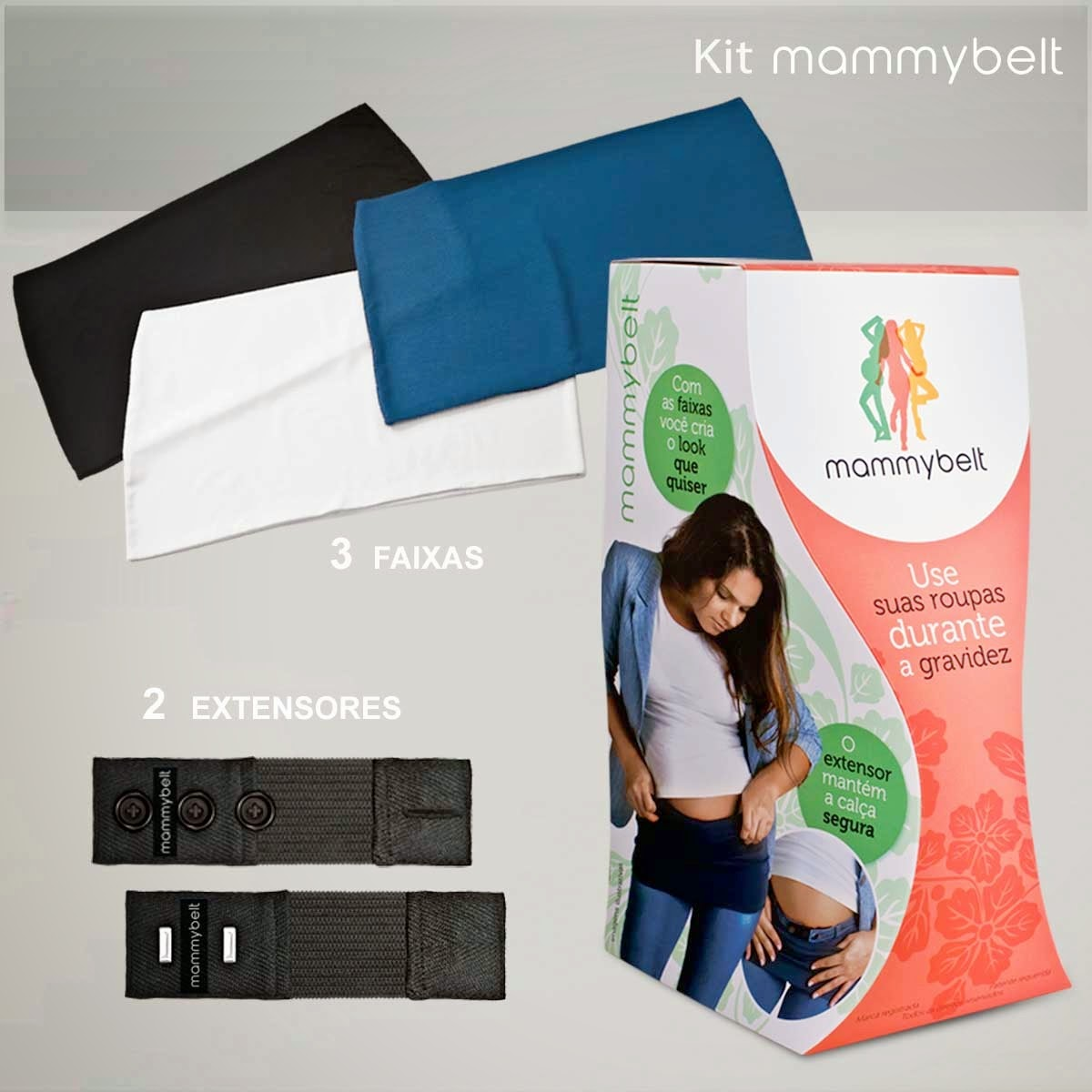 2567d9ae1e A primeira opção é um kit de extensores para ajustar calças que vc já tem.  Existe uma marca chamada mammybelt que vende esse kit por R 79