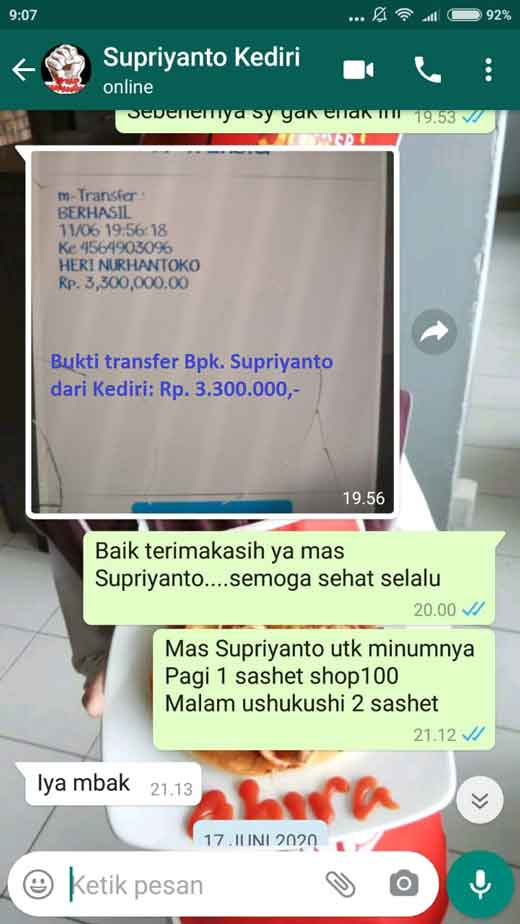 Agen Jual: SOP 100 Plus, SOP 100 Vs SOP Subarashi dan Utsukushii Supplement, di China