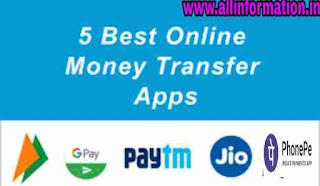 Bank account se paise transfer karne ke liye best 5 apps in Hindi