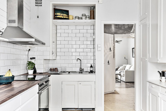 nordic and vintage style kitchen