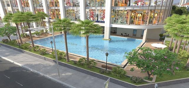 Bể bơi ngoài trời chung cư Gelexia Riverside