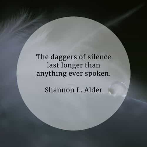 Silence quotes that will help reveal its true meaning