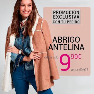 Abrigo de antelina por solo 9,99€ en Venca
