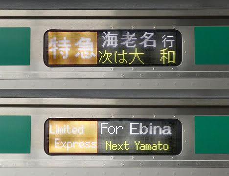 相模鉄道 特急 海老名行き4 E233系