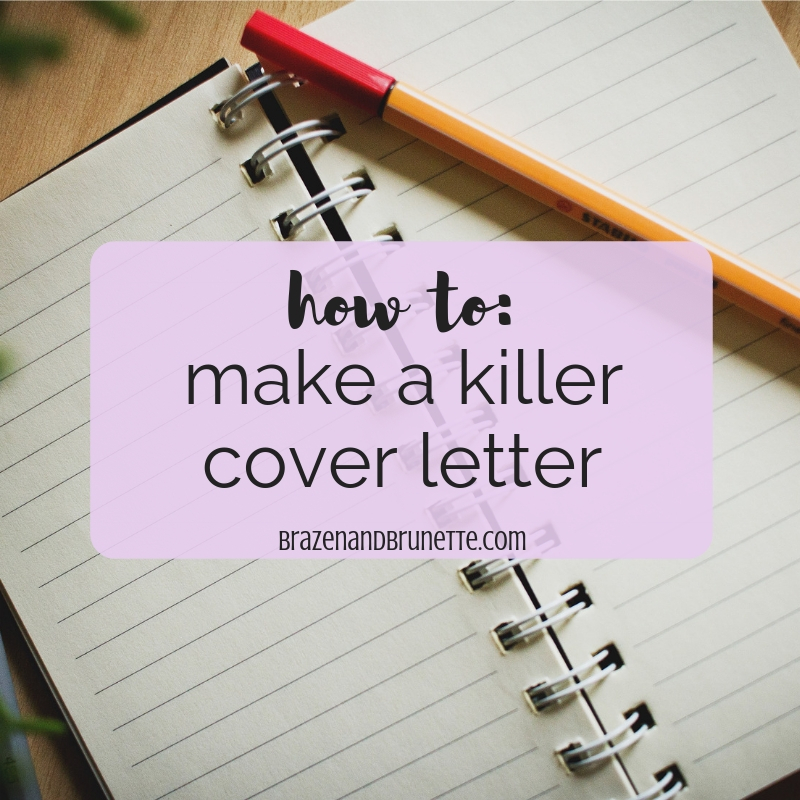 How to Make a Cover Letter That Will Land a Law Job ~ Brazen ...
