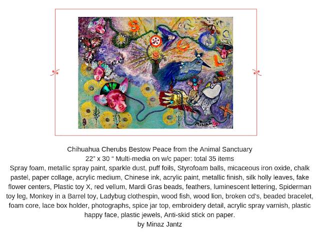Chihuahua Cherubs Bestow Peace from the Animal Sanctuary by Minaz Jantz