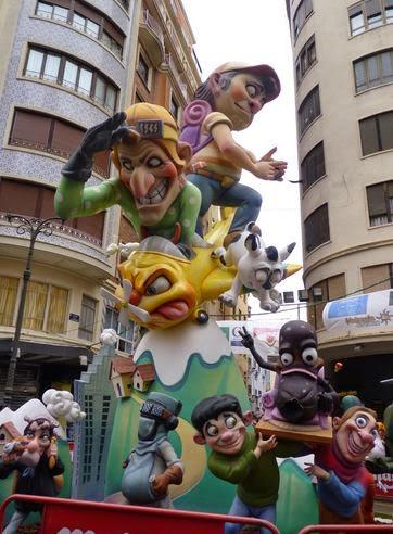 Las fallas de Valencia.