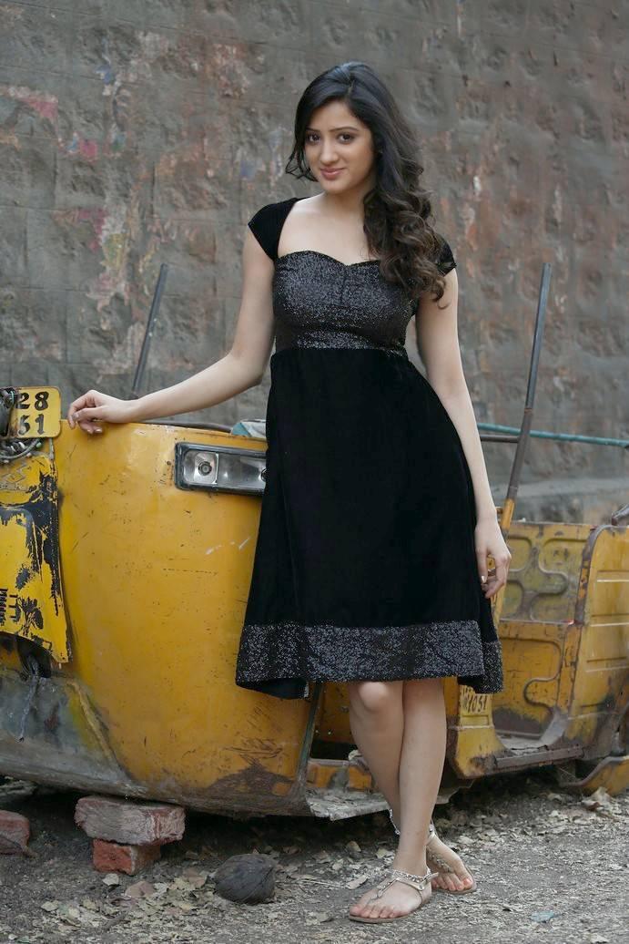 Richa Panai Stills in Black Dress From Telugu Movie
