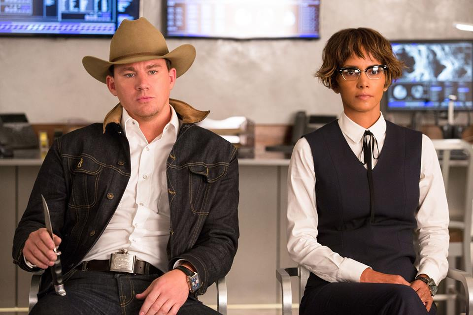 Channing Tatum as Agent Tequila and Halle Berry as Ginger Ale in 'Kingsman