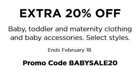 8fa1b88970e Kohl s Baby Sale  20% OFF Baby and Toddler Purchase