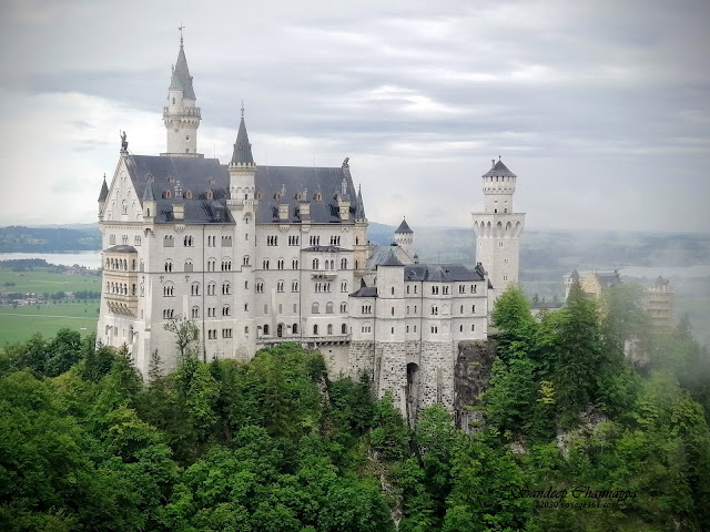 Neuschwanstein Castle as seen from Marienbrücke