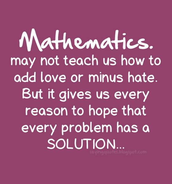 Inspirational Math Quotes: Math Love Quotes. QuotesGram