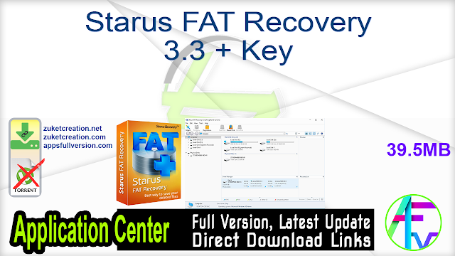 Starus FAT Recovery 3.3 + Key