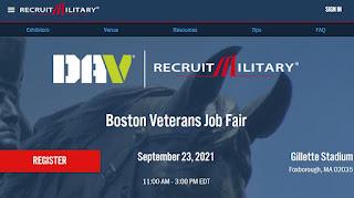 Boston Veterans Job Fair! - Sep 23, 2021