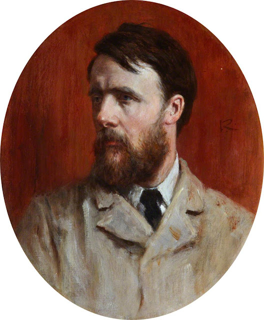 George Reid, Self Portrait, Portraits of Painters, Fine arts, Portraits of painters blog, Paintings of George Reid, Painter George Reid