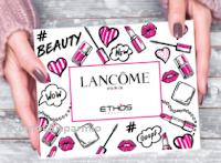 Logo Concorso ''Scatta e vinci con Lancome e Ethos Profumerie'': vinci gratis 30 Gift Box Lancome