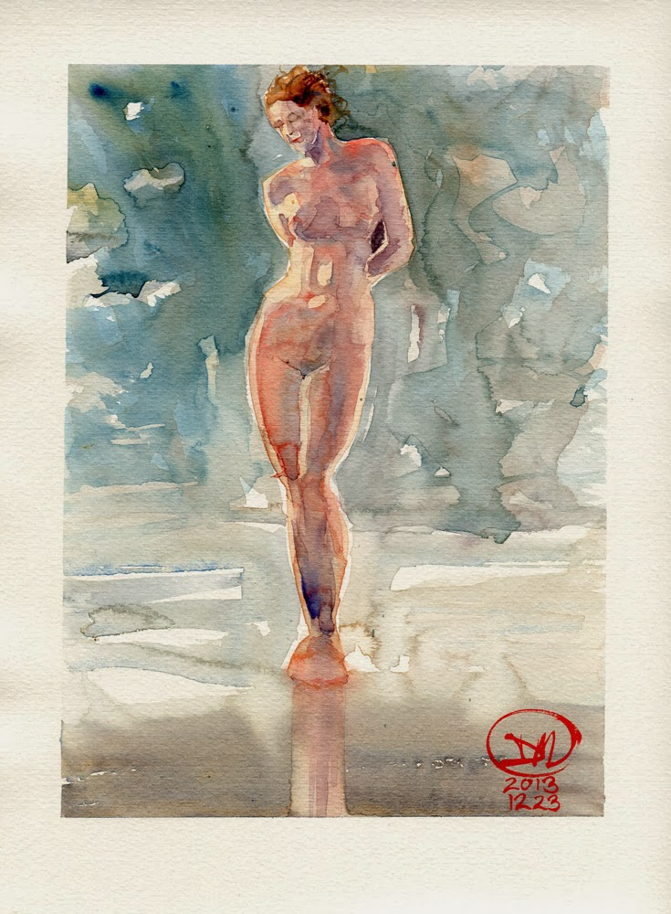 Pencil free nude by David Meldrum