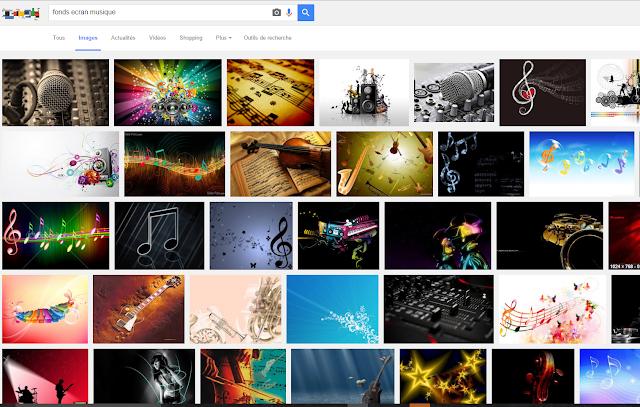 Moteur de recherche Google, onglet Image
