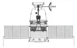 La capsula sovietica 7K-L1 per il tragitto circumlunare - schema.