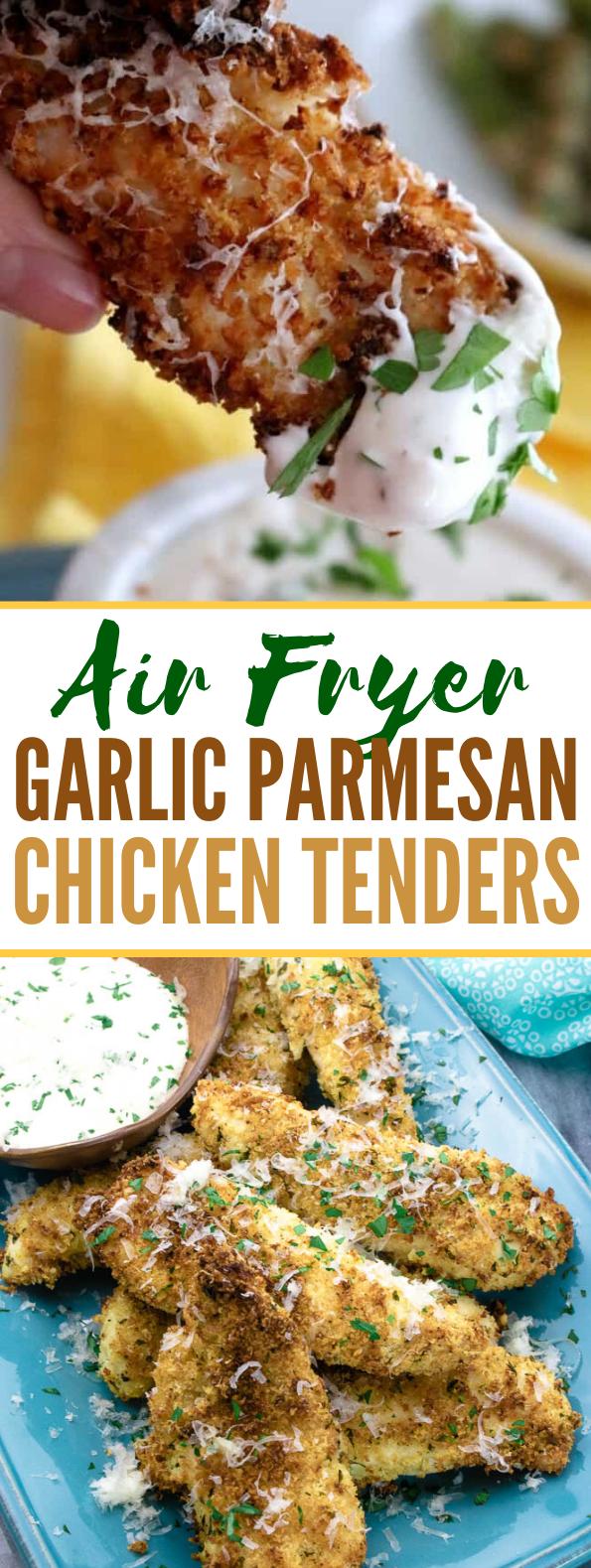 AIR FRYER GARLIC PARMESAN CHICKEN TENDER RECIPE #comfortfood #meals