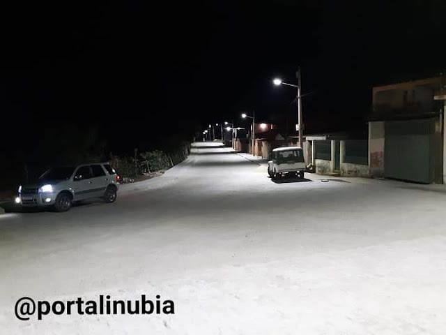 Prefeitura instala luminárias com lâmpadas  de LED na entrada de Inúbia