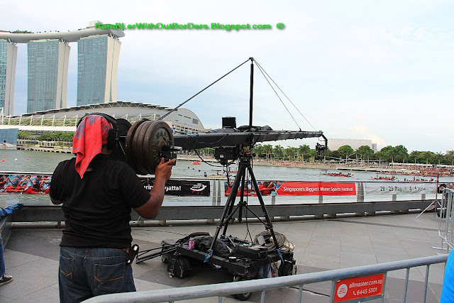 video camera, DBS Marina Regatta, Singapore