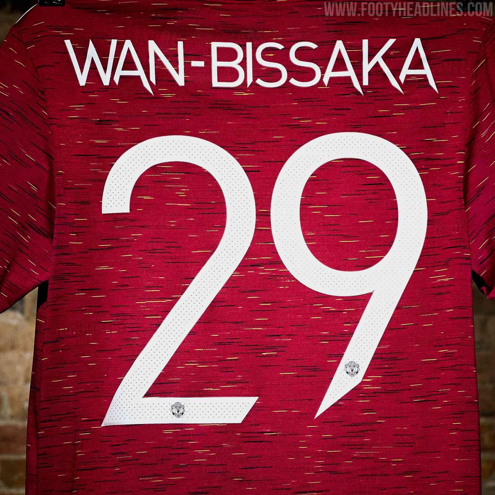 Brandneue Manchester United 20-21 Trikot-Schriftart
