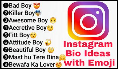 Instagram Bio Ideas With Emoji