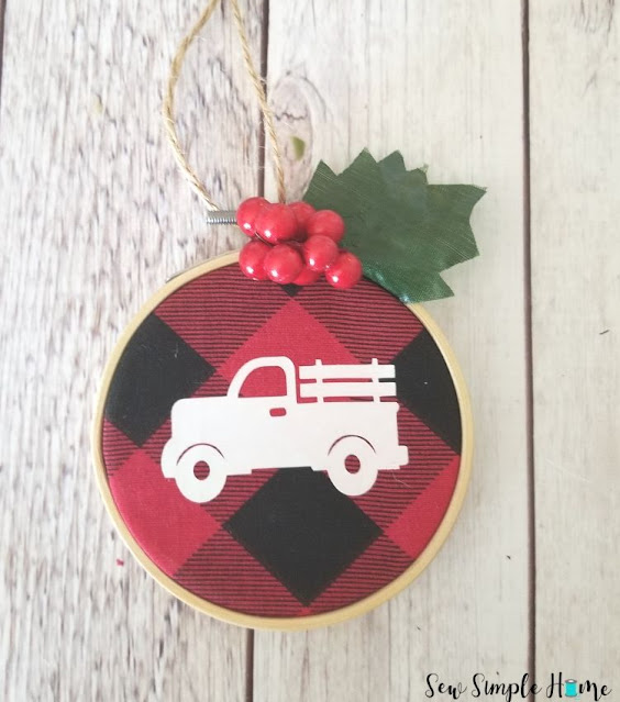 buffalo plaid ornaments