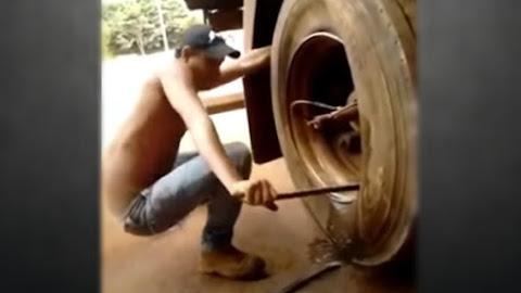 Borracheiro NINJA troca pneu rapido