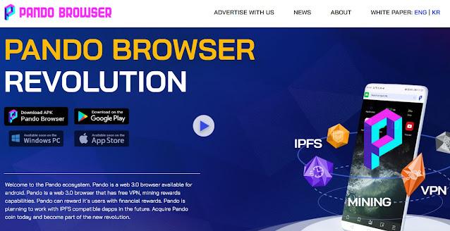 Screenshot Halaman Website Pando Browser (PANDO)