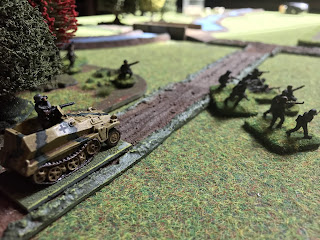The German halftrack arrives in support