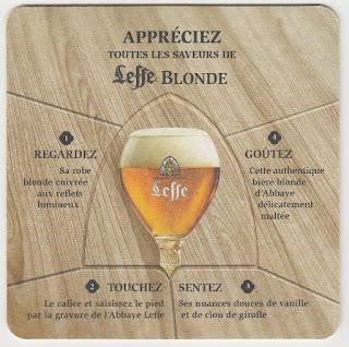 Sous-bock en carton de la Leffe Blonde