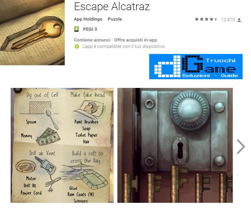 Soluzioni Escape Alcatraz di tutti i livelli | Walkthrough guide