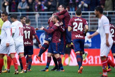 Crónica Eibar 5 - Sevilla FC 1