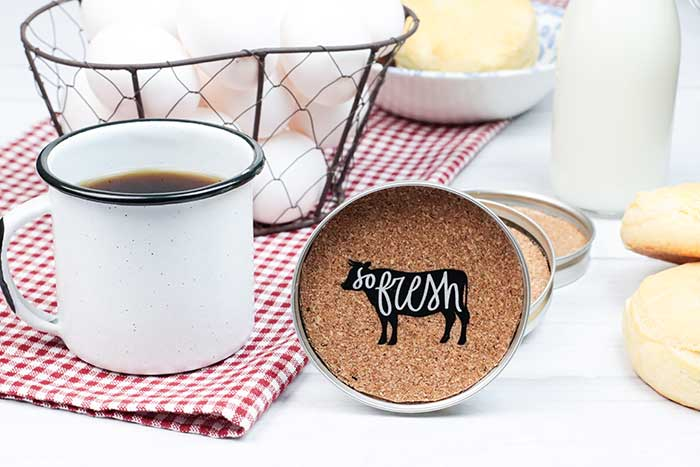 How to Make Rustic Farmhouse Coasters DIY (Canning Ring Crafts)