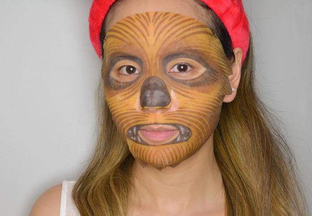 Chewbacca Star Wars Sheet Mask Selfie