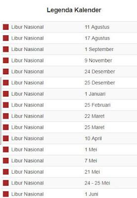 Kalender Pendidikan Tahun Ajaran 2019/2020 Provinsi Jambi