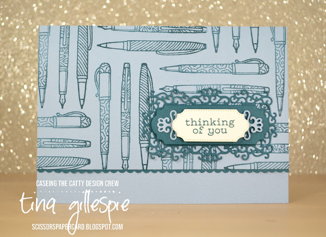 scissorspapercard, Stampin' Up!, CASEing The Catty, Crafting Forever, Birds Of A Feather, Ornate Frames Dies, Subtle Embossing Folder